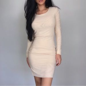 EKAttire Nude Mesh With You Dress